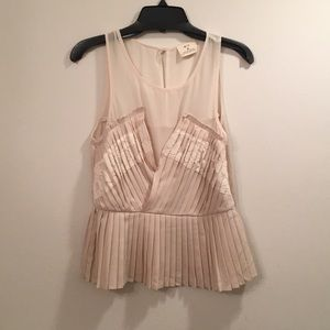 Pins and Needles Pleated Peplum Top Size M